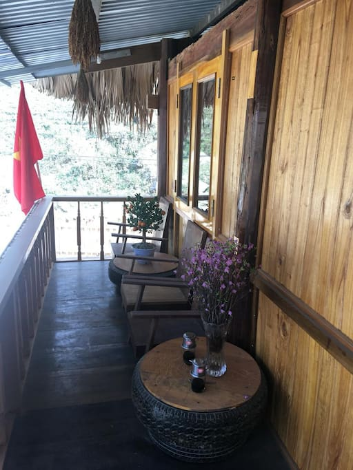 Enjoy morning fresh air at the balcony