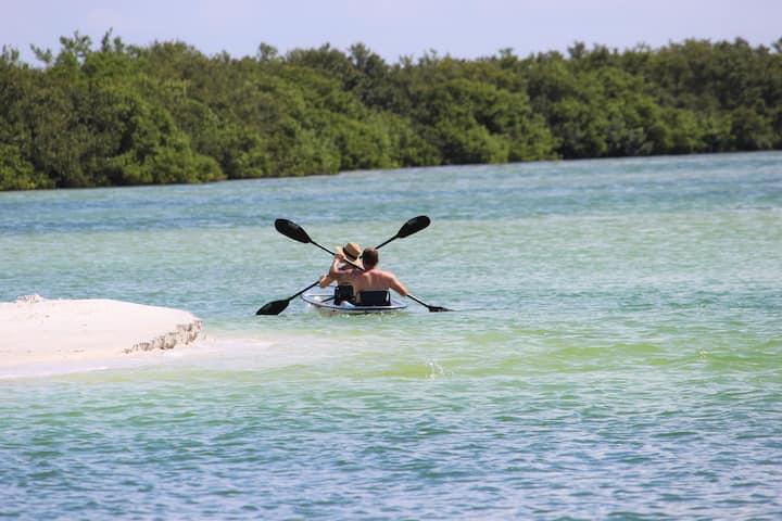 Paddle through beautiful waters