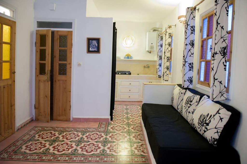 Des teintes sobres pour créer un espace reposant