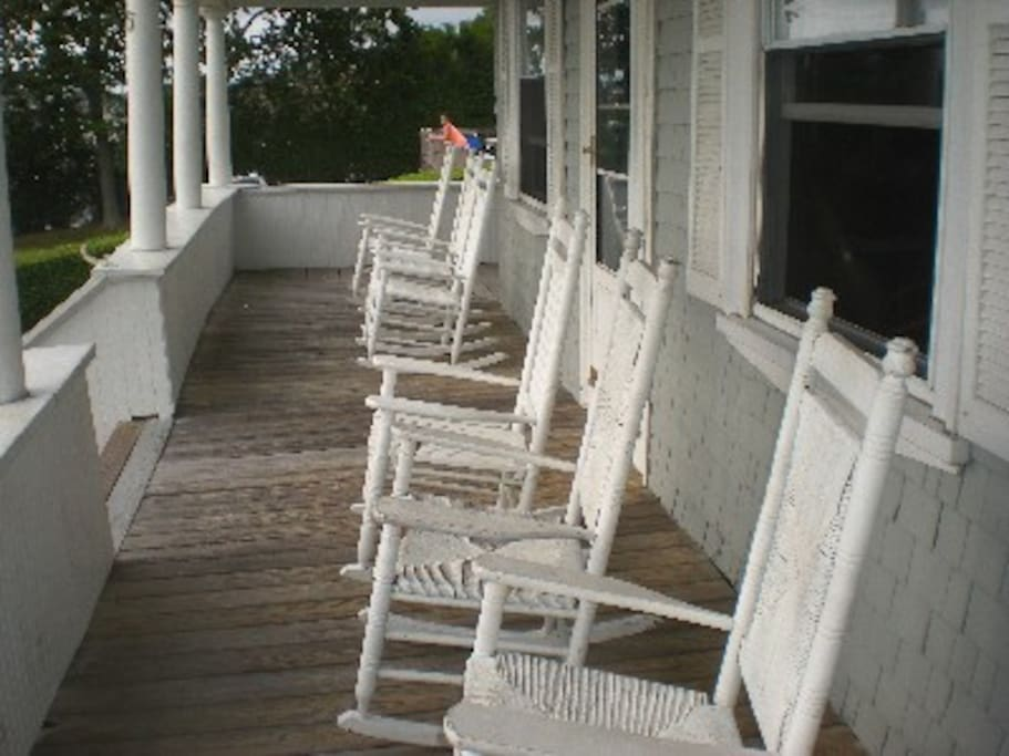 Classic New England porch, Great place to relax!
