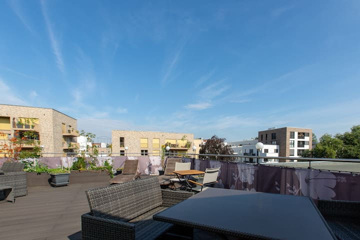 beautiful apartment with roof garden and riverview