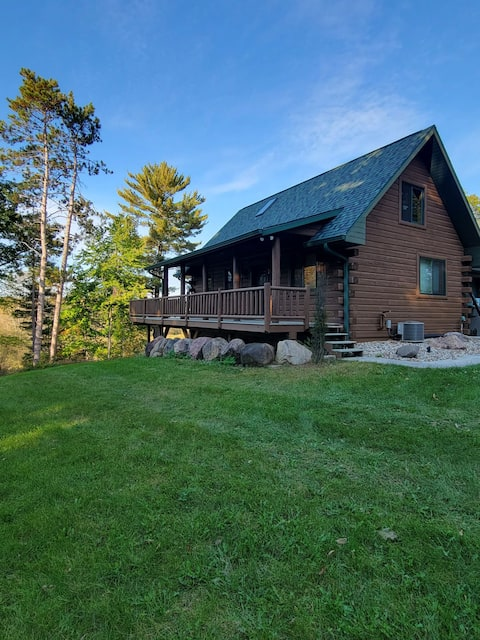 """Little Wolf River Lodge  """"two bedroom private cabin in the woods with river access"""""""