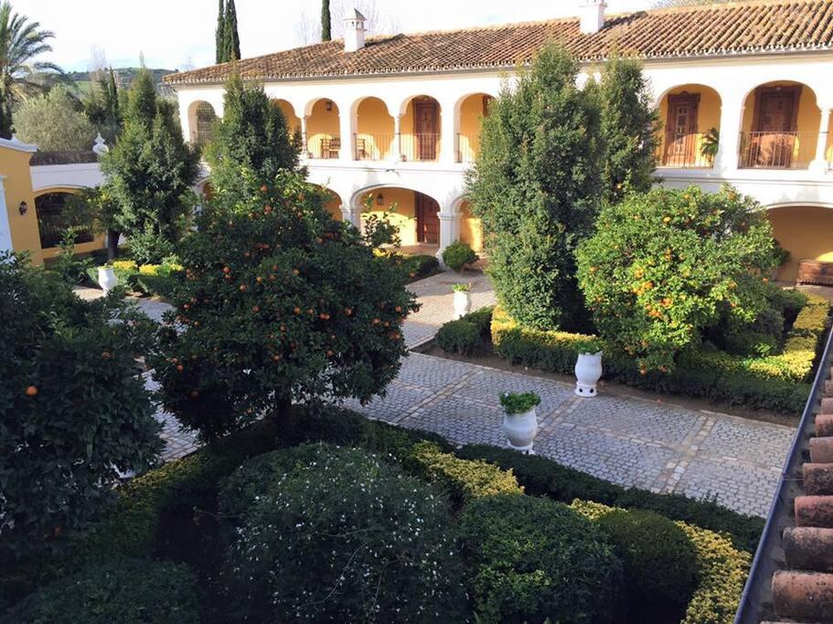Rooms overlooking main courtyard