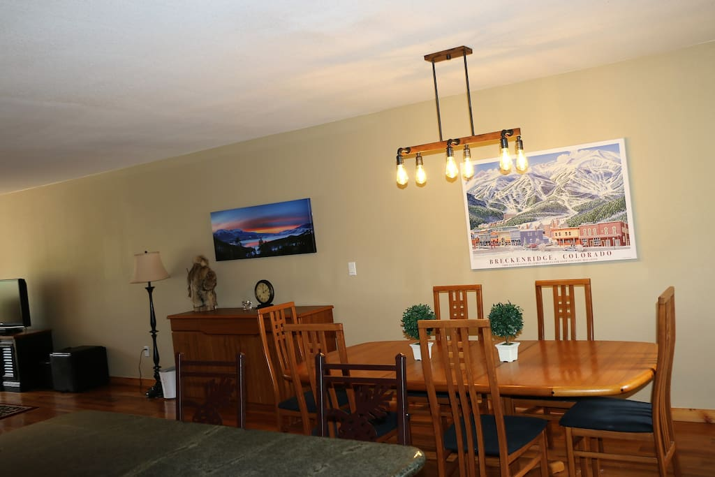 Dining Area from Kitchen - Fresh Paint and new art and fixtures. Summer 2017