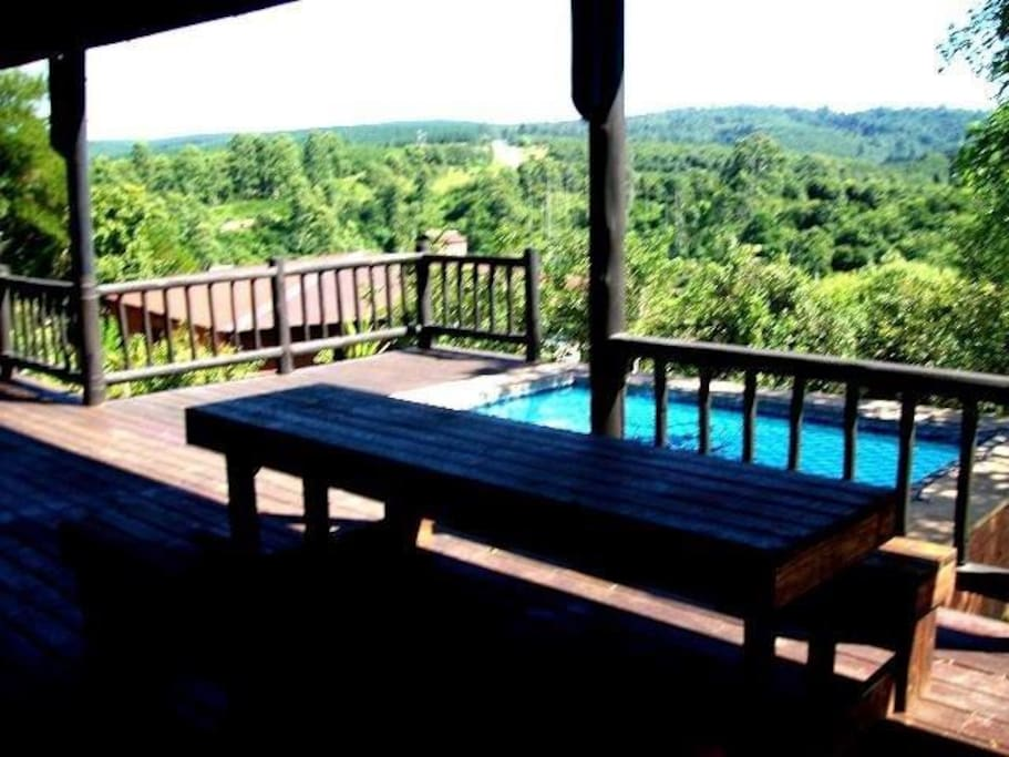 Beautiful deck and built in pool