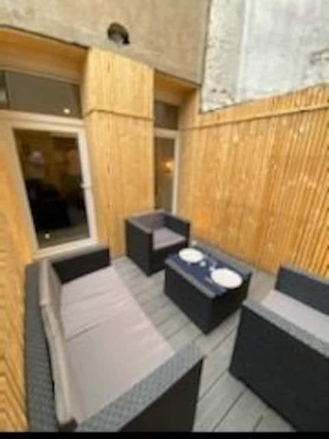 Studio  16m2 avec terrasse proximité Erdre