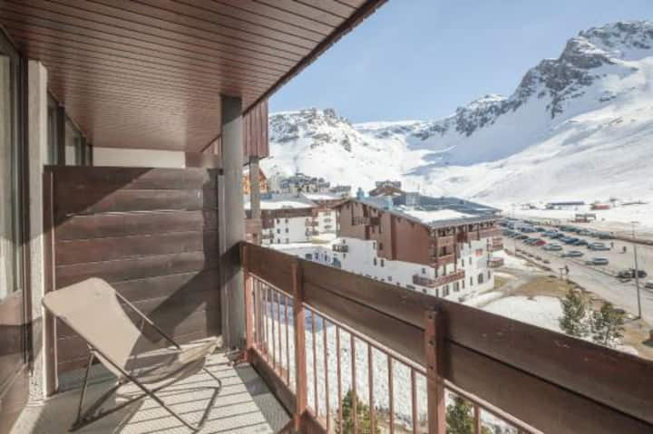 Bright studio at the bottom of the slopes (Tignes)