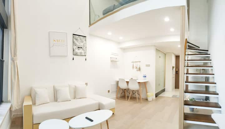 SACO Adorable | 复式LOFT | 简约风格设计 | 拱北口岸&情侣路&近港澳