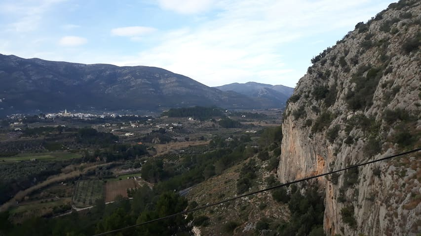 The Jalon valley and popular climbing location.