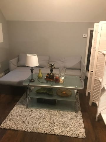 Skylit master bedroom & 10 mins to Train station