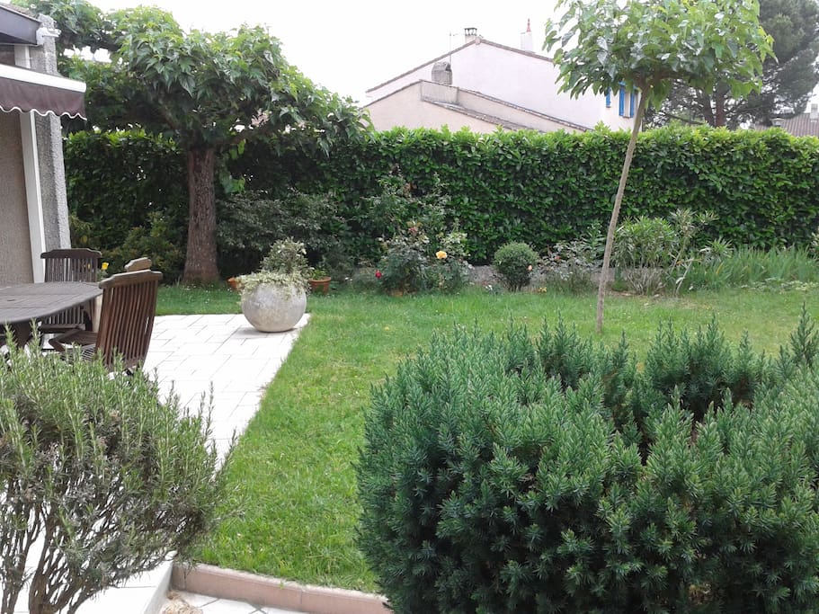Jardin agréable et reposant.