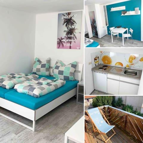 ★Schönes Apartment | 2P | Balkon | Zentral Modern★