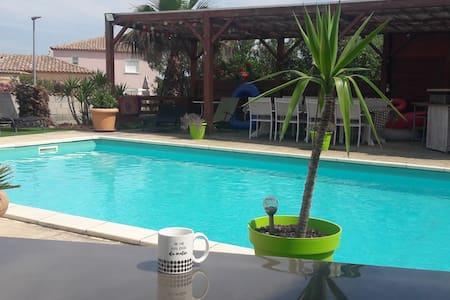 Studio/accès piscine de la famille/Narbonne
