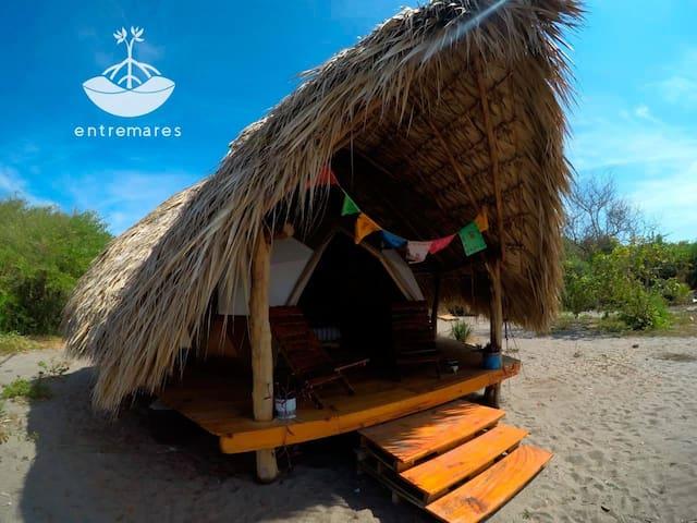 Cabaña domo ecológica en la playa. Boca del Cielo