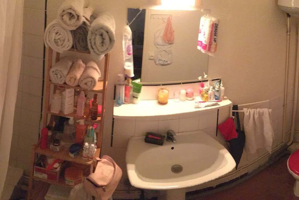Very functional bathroom.