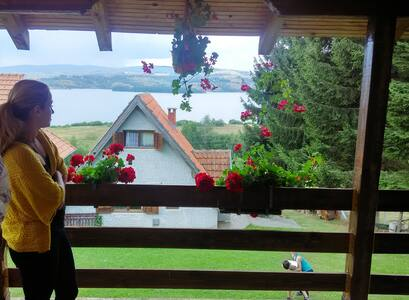 House with a view of the lake and beautiful yard - Vlasina Okruglica - House