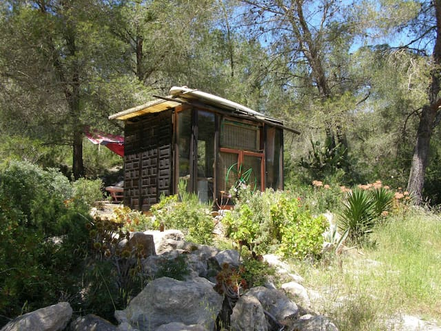 rural WOOD AND GLASS HOUSE, room - Ibiza - Cottage
