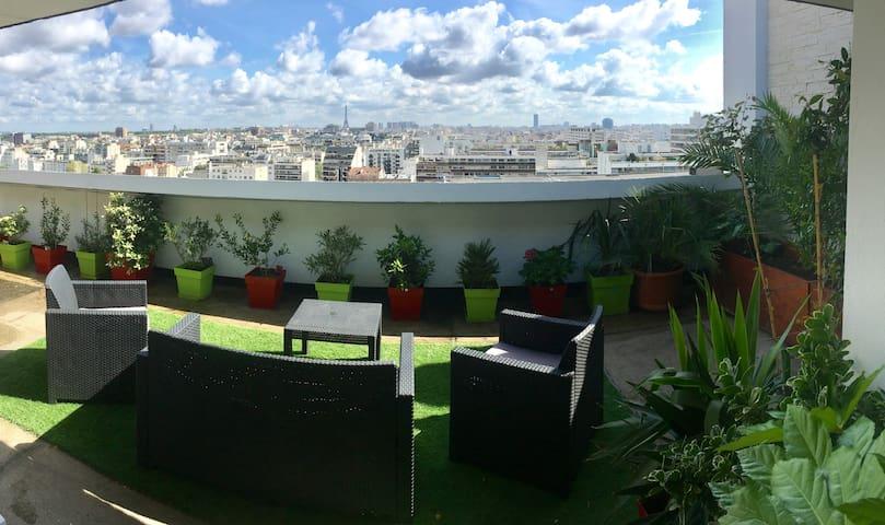 Luxurious 140 sqm flat with a roof top - Boulogne-Billancourt - Loft