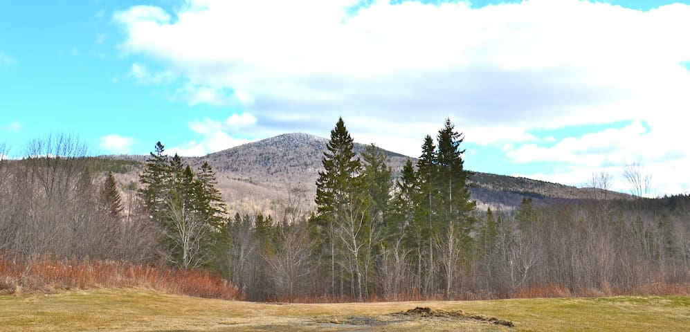 Spruce Mtn Log house with view - Plainfield - Casa