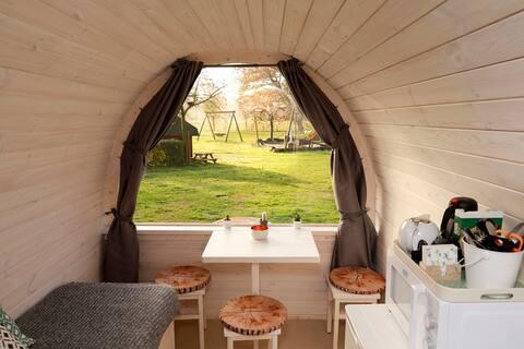 Tiny house Barelio ; een hotelkamer in de natuur