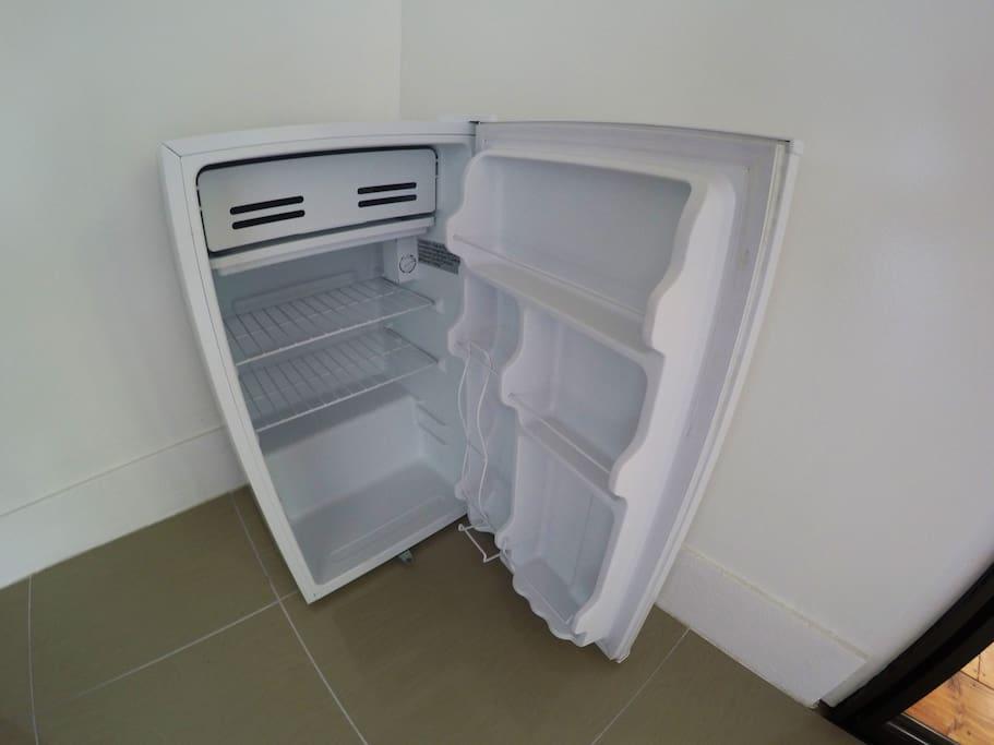 The little fridge in the room