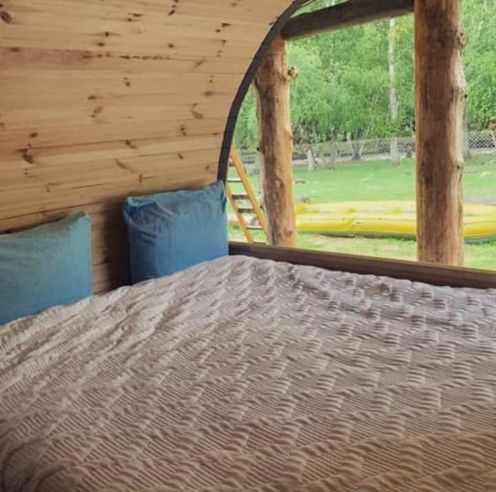 Дом-Бочка в самом красивом месте Алтая