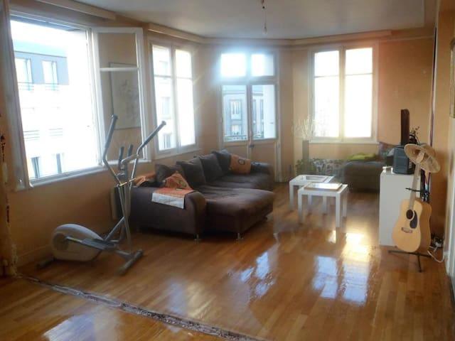 Chambre agréable dans appt 112 m2 rénove en cours - Brest - Wohnung