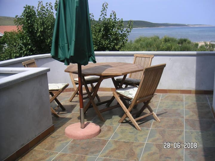 Two bedroom apartment with terrace and sea view Ljubač, Zadar (A-14593-c)
