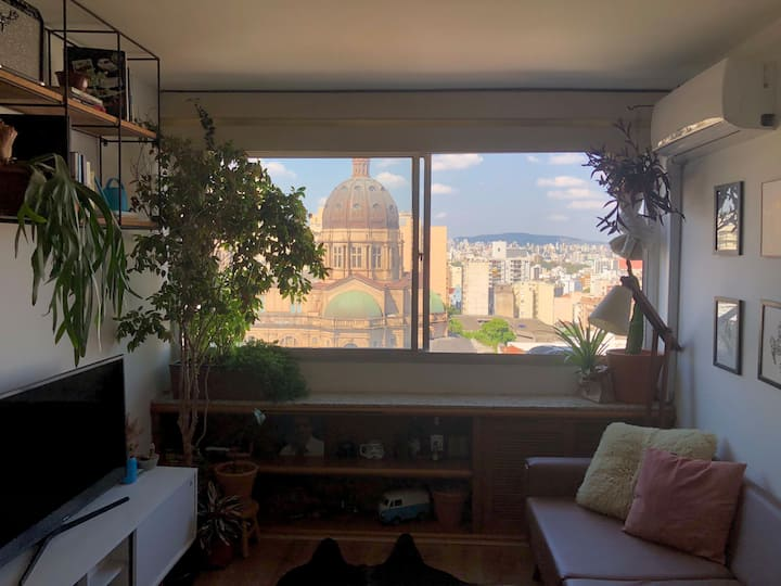 Apartamento urban jungle com vista panorâmica