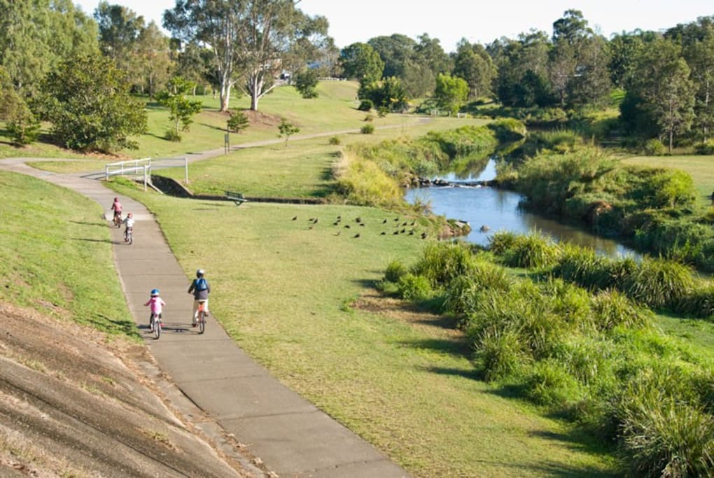 Kedron Brook is only 50m from our doorstep.