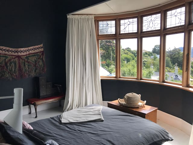 Master bedroom with beautiful views