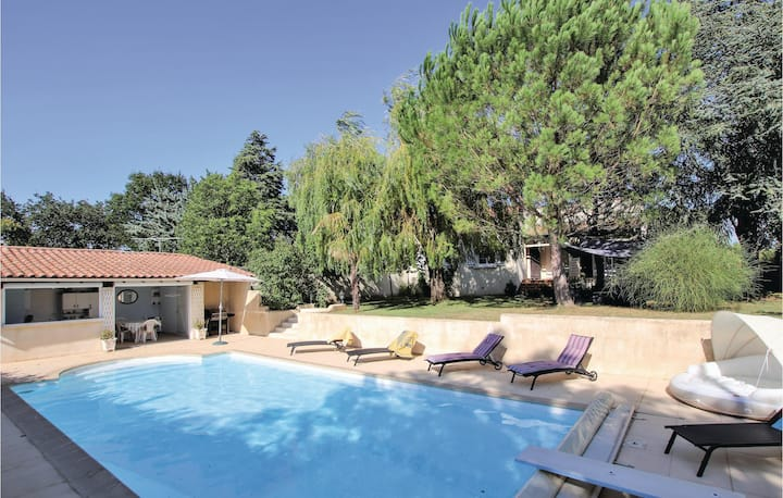 Awesome home in Montboucher sur Jabron with Outdoor swimming pool and 3 Bedrooms