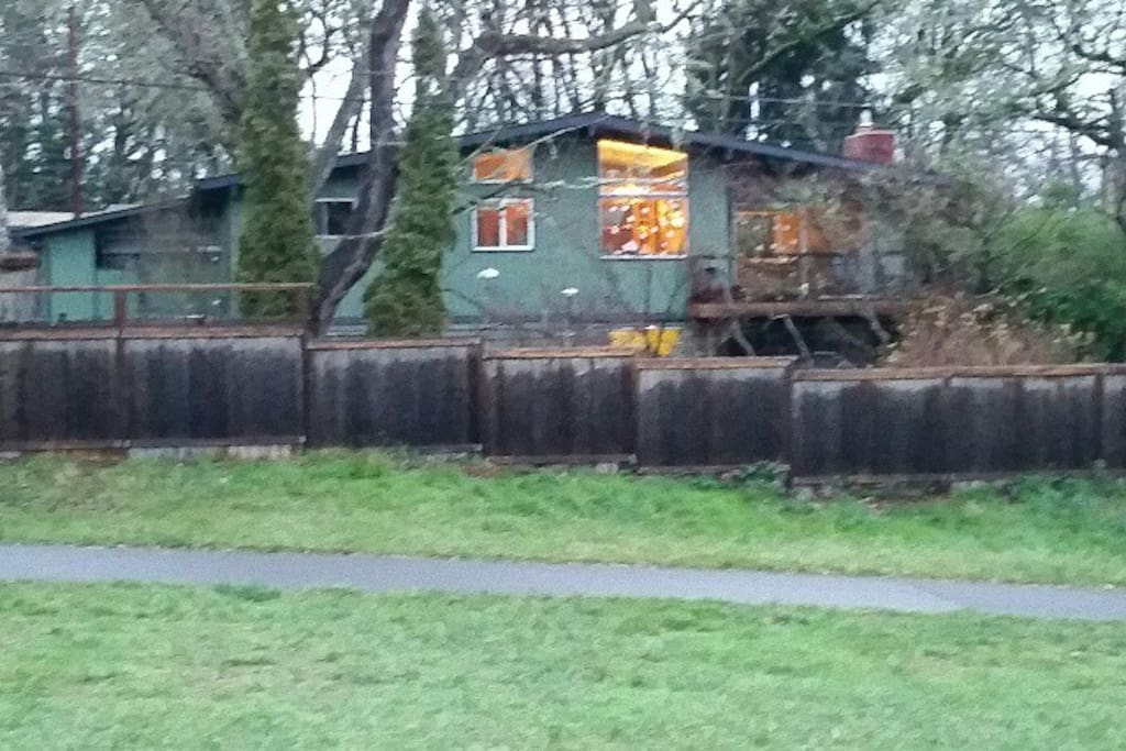 A view of our house from the park.