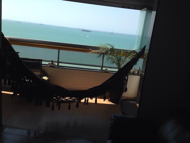 Descanso na praia de Itaparica