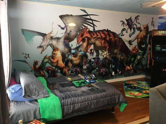 The video game room you always wanted as a kid!