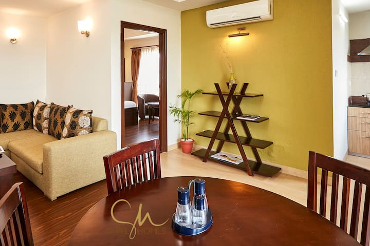 Enticing mountain view 1BHK @Patan by Suite Homes