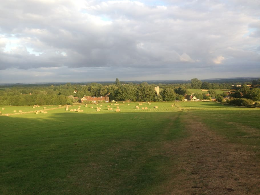 One of the many local walks and lovely views on offer!
