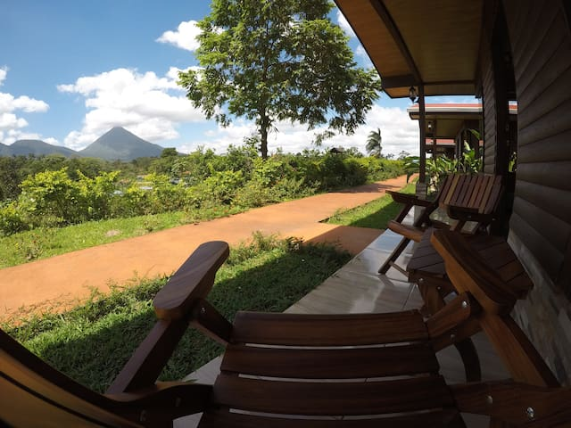 Great volcano view from your cabin