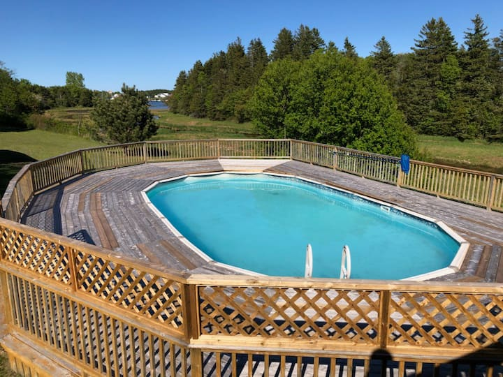 Great House with Pool/ View of Rustico Harbor