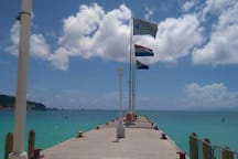 Harbor flag, Dutch flag, St.maarten flag.