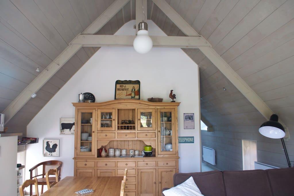Living room in gîte