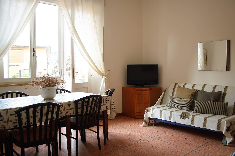 Ampio soggiorno con due divani