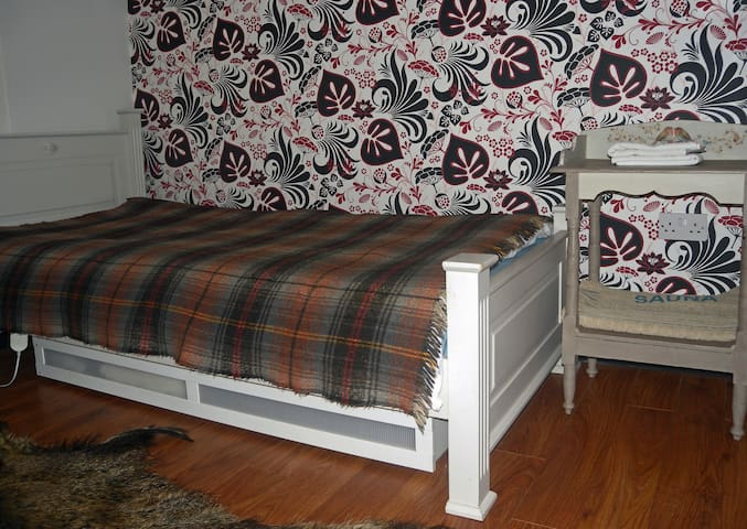 Single bed has an electric blanket