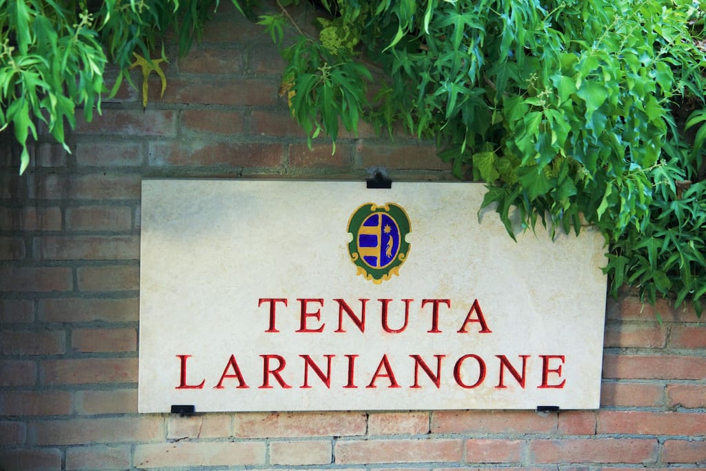 entry sign of the Wine Estate