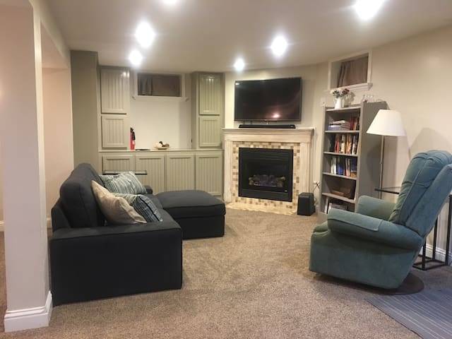 Cozy private full basement apt - Midvale - House