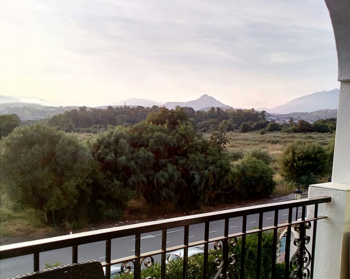 Mountain views from the terrace