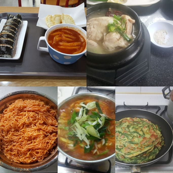 if the guest want and pay . we can make Korean foods in my guest house ^^