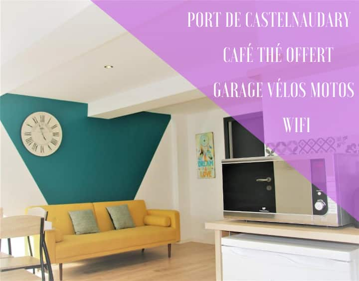 ⭐️Sleep'In Castel⭐️ PORT DE CASTELNAUDARY GARAGE PRIVE