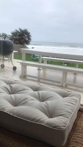 Spacious beach house with private beach