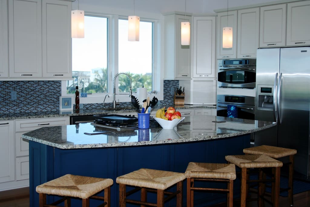 Kitchen has 2 dishwashers, advantium & conventional ovens, fully stocked for epicureans.